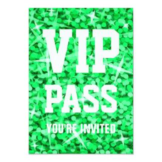 "Invitation verte de ""PASSAGE de VIP"" de Carton D'invitation 12,7 Cm X 17,78 Cm"