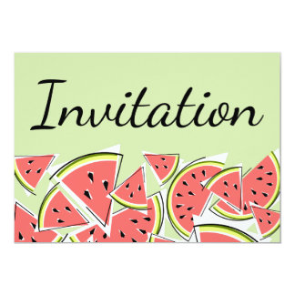 Invitation verte de pastèque