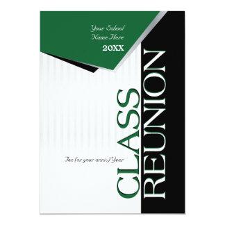 Invitation verte personnalisable de la Réunion de
