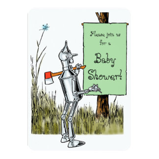 Invitation vintage de baby shower de magicien d'Oz