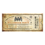 Invitation vintage de billet de Halloween de batte