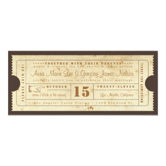 Invitation vintage de billet