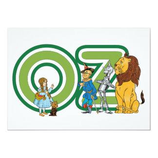 Invitation vintage de caractères de magicien d'Oz