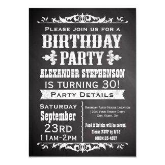 Invitation vintage de fête d'anniversaire de carton d'invitation  11,43 cm x 15,87 cm