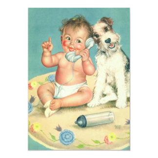 Invitation vintage de fête d'anniversaire d'enfant