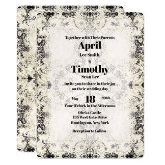 Invitation vintage de mariage de Champagne de pays