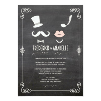 Invitation vintage de moustache de tableau et de