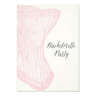 Invitation vintage de partie de Bachelorette