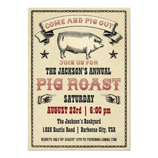 Invitation vintage II de rôti de porc