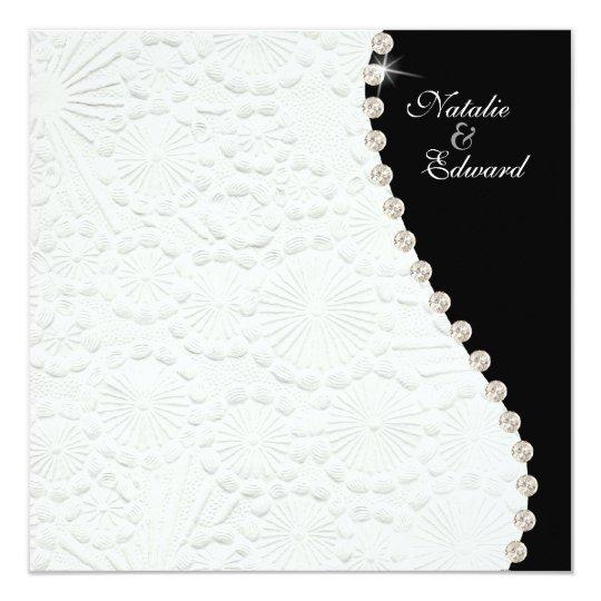 invitation vintage noir et blanc de motif de. Black Bedroom Furniture Sets. Home Design Ideas