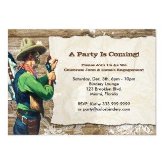 Invitation voulue d'événement de 7 x 5 pouces carton d'invitation  12,7 cm x 17,78 cm