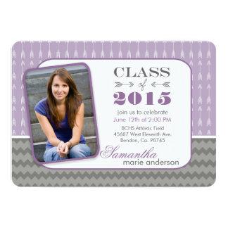 Invitations 2015 pourpres d'obtention du diplôme carton d'invitation  12,7 cm x 17,78 cm
