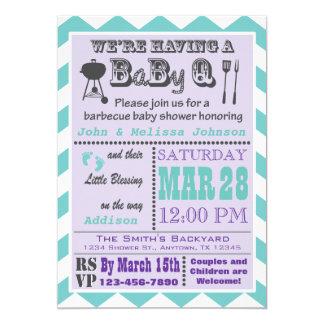 Invitations 2 de baby shower de BaByQ de barbecue