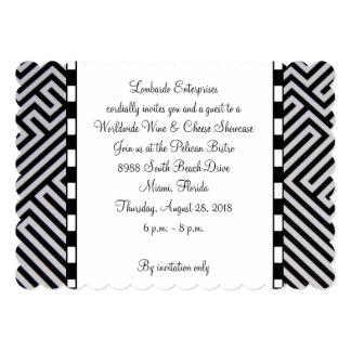 Invitations abstraites noires carton d'invitation  12,7 cm x 17,78 cm