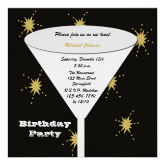 Invitations adultes de fête d anniversaire - pain