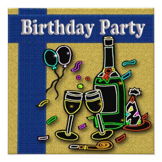 Invitations adultes de fête d'anniversaire