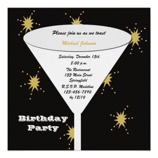 Invitations adultes de fête d'anniversaire - pain