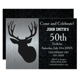 Invitations adultes rocailleuses d'anniversaire de