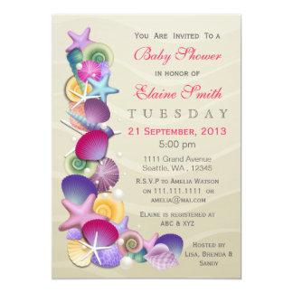 invitations arénacés de baby shower de rose de