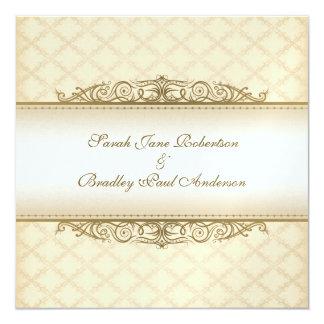 Invitations baroques de mariage piquées par or