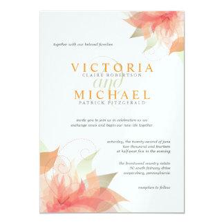 Invitations blanches métalliques de mariage de carton d'invitation  12,7 cm x 17,78 cm