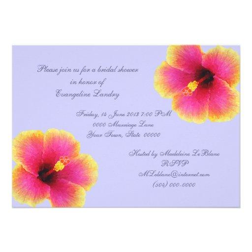 Invitations bleu-clair de fleur de ketmie