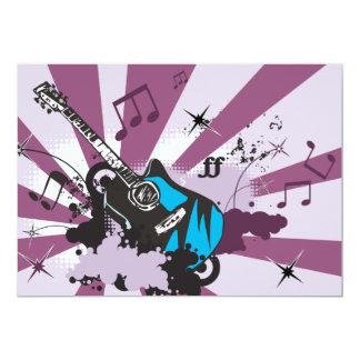 Invitations bleues de guitare