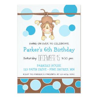 Invitations bleues de oscillation d'anniversaire