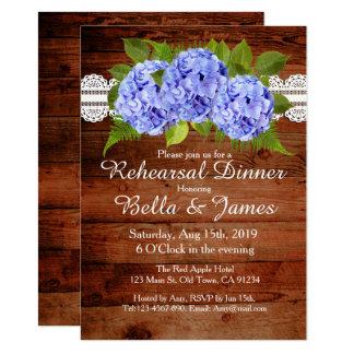 Invitations bleues de répétition d'hortensia de