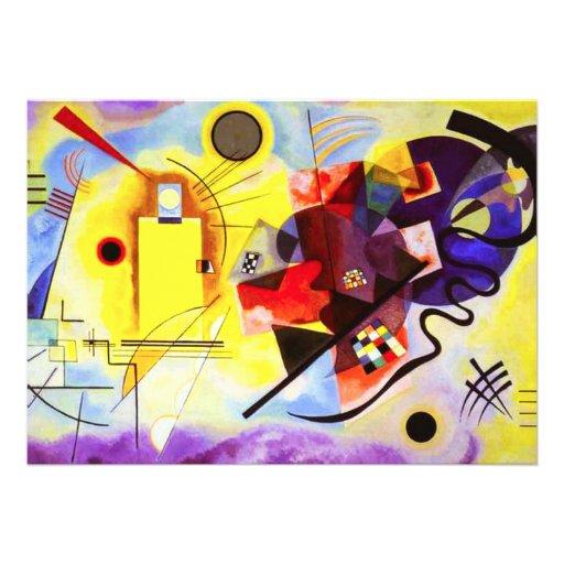Invitations bleues rouges jaunes de Kandinsky