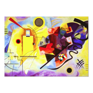 Invitations bleues rouges jaunes de Kandinsky