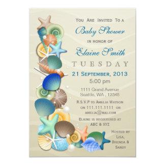 invitations bleus de baby shower de thème arénacé