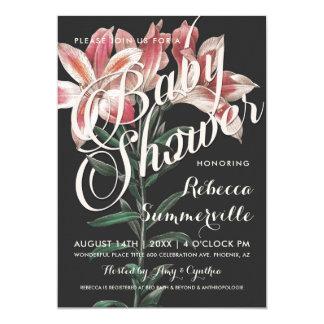Invitations botaniques de baby shower de beau lis