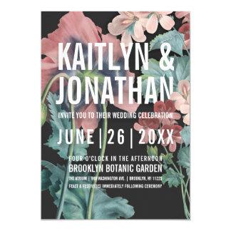Invitations botaniques de mariage d'étreinte