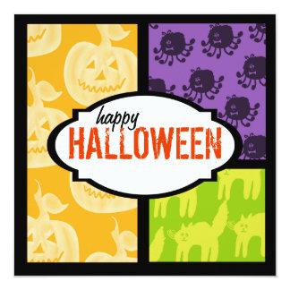 Invitations carrées de partie de Halloween