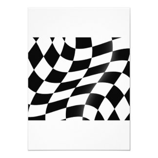 Invitations Checkered de drapeau