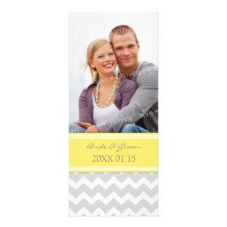 Invitations Chevron jaune gris de mariage de photo
