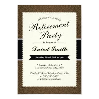 Invitations chiques de partie de retraite de