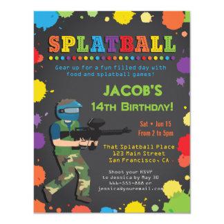 Invitations colorées de fête d'anniversaire de