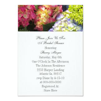 Invitations colorées d'hortensia