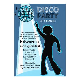 Invitations d anniversaire de partie de disco