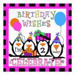 Invitations d'anniversaire customisées par partie