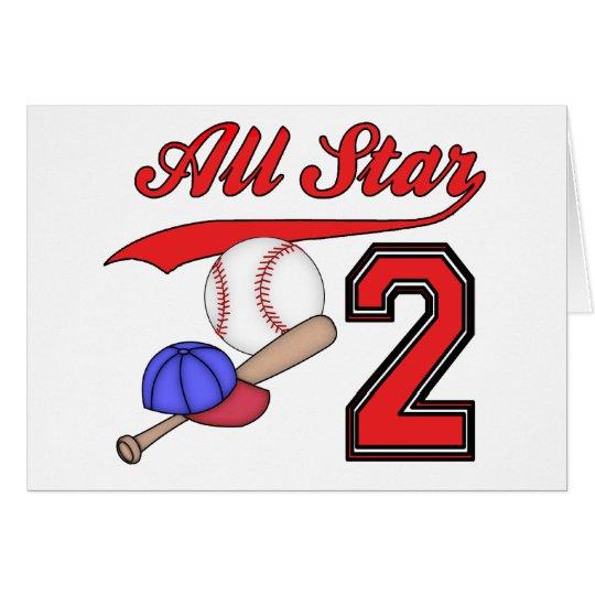 Invitations d'anniversaire de base-ball d'All Star Cartes De Vœux