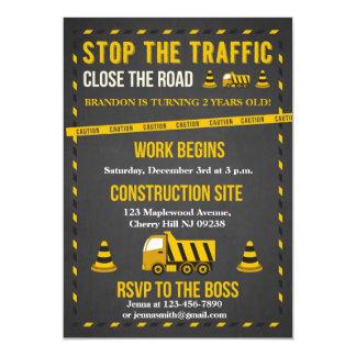 Invitations d'anniversaire de construction