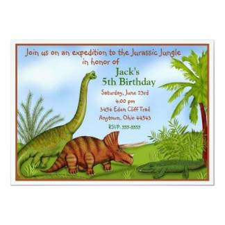 Carte D Invitation Anniversaire Dinosaure à Imprimer Gratuit