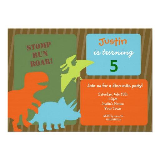 invitations d 39 anniversaire de dinosaure carton d 39 invitation 12 7 cm x 17 78 cm zazzle. Black Bedroom Furniture Sets. Home Design Ideas