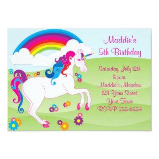 Invitations d'anniversaire de licorne