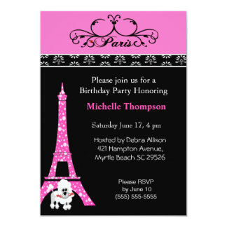 Invitations d'anniversaire de Paris de Tour Eiffel
