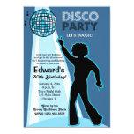 Invitations d'anniversaire de partie de disco carton d'invitation  12,7 cm x 17,78 cm