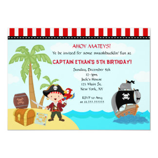 Invitations d'anniversaire de pirate